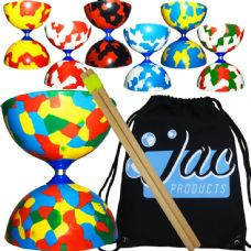 Juggle Dream Jester Diabolo with Wooden Hand Sticks & Bag Package